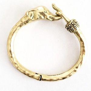 Lucky Brand Jewelry - Lucky Brand Gold Elephant Cuff Bracelet